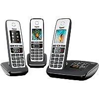 Gigaset A670A Telefono Cordless Trio, Display a colori, Nero/Grigio Chiaro