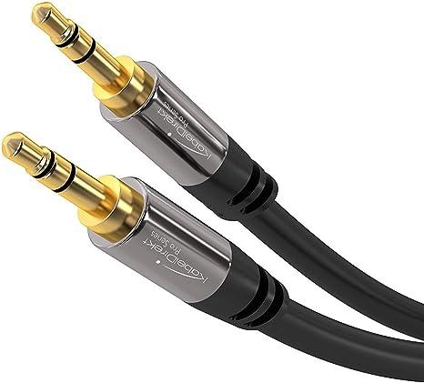 KabelDirekt 2m Cable Jack 3.5mm, (Cable Aux, Audio Estéreo ...