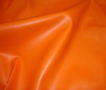 Amazon Com Luvfabrics Orange 2 Way Stretch Upholstery Faux Leather