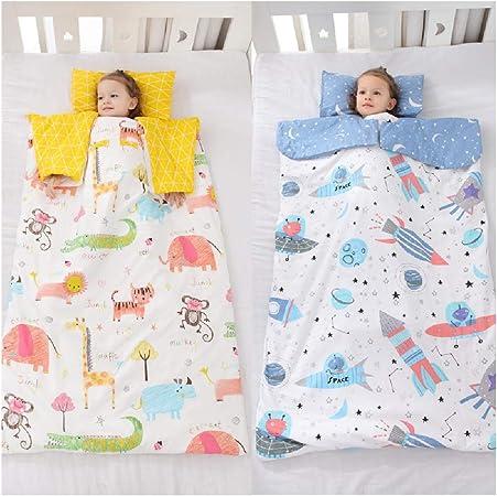 Bunnysun Manta de Abrigo Saco de Dormir para bebés Sacos de Dormir de Abrigo para bebés Algodón Antideslizante Saco de Dormir para bebés y niñas Edredón Recién Nacido,Yellow- 78 * 120/M: Amazon.es: