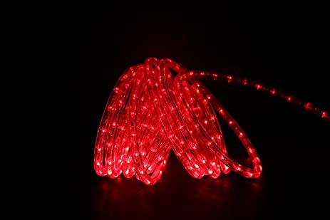 Amazon direct lighting 24ft super bright heavy duty red rope direct lighting 24ft super bright heavy duty red rope lights with 288 leds expandable aloadofball Choice Image