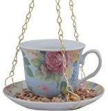 Secrets du potager Mangeoire pour oiseauxen forme de tasse de thé Blanc