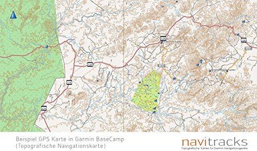 Namibia Garmin tarjeta Topo 4 GB MicroSD. Mapa Topográfico de GPS ...