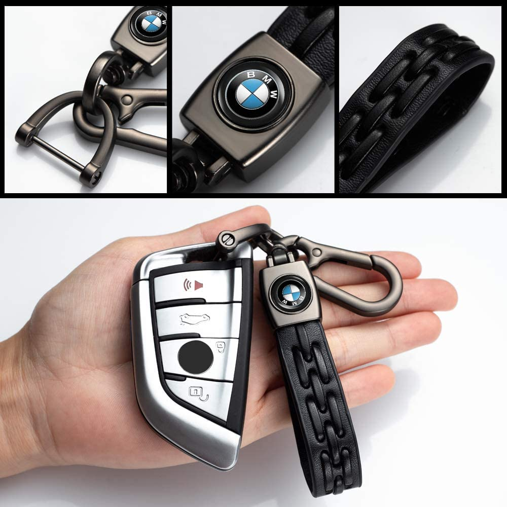 1Pack Leather Key Chain for JEEP Car Key Fob Key Chain Keychain Jeep Wrangler Compass Cherokee Renegade Patriot Grand Commander ,KeyChain Family Present for Man and Woman Elegant accessories keyring