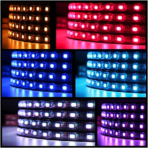 APP LED Neon Undercar Glow light Underglow Atmosphere Decorative Bar Lights Underbody System Waterproof Tube 7 Color with Sound Active and Wireless Remote Control
