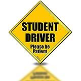Zento Deals Reflective Student Driver Please Be Patient Magnetic Sign