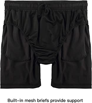 ae490612a6c73 Men's 5 Inch Dry Fit Running Shorts Workout Athletic Gym Short with Zipper  Pockets. DEMOZU Men's 5 Inch Dry Fit Running Shorts Workout Athletic Gym  Short ...