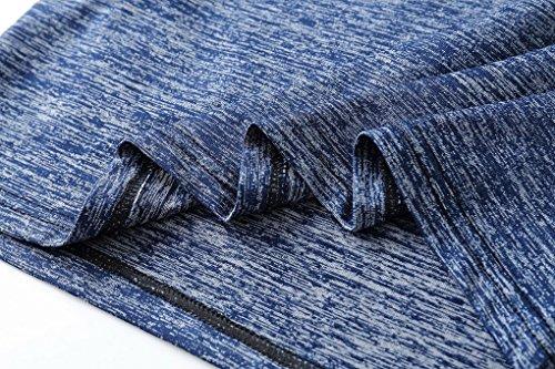 Dry girocollo Acmede corta da traspirante Blue manica Fitness shirt Running Quick uomo Running T wwSrCqz7