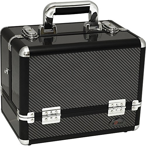 - Sunrise C3002 3-Tier Accordion Trays Pro Makeup Train Case with Shoulder Strap, 12