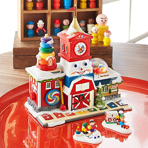 Department 56 North Pole Village Fisher-Price Fun Factory Lit House, 8.27 inch by Department 56 (Image #1)
