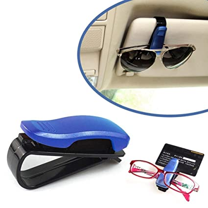 Car Suv Sun Visor Clip Sunglasses Storage Box Glasses Holder Transparent Color Parts & Accessories