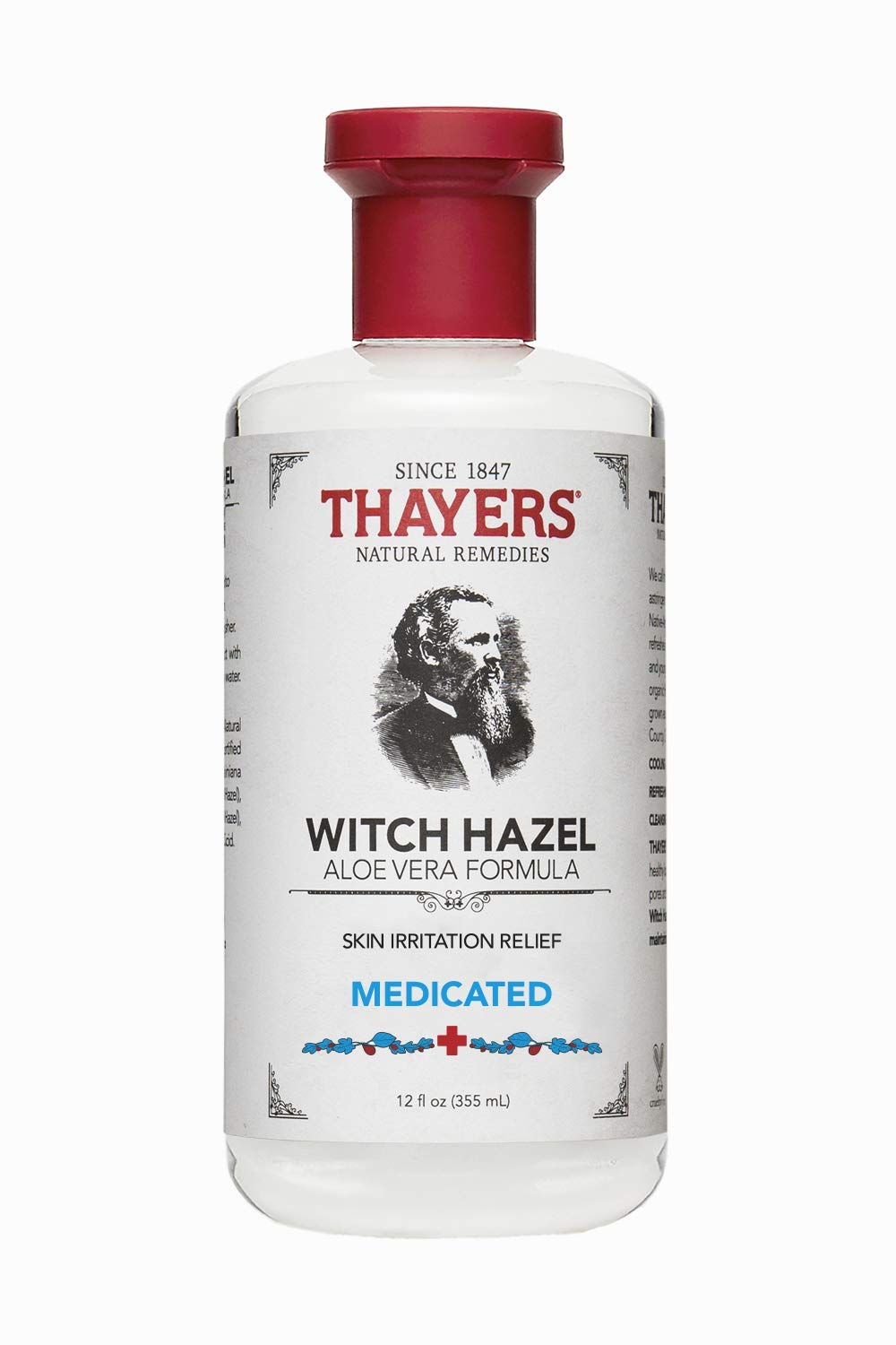 Thayers Witch Hazel Aloe Vera Formula, Medicated 12 oz 7001