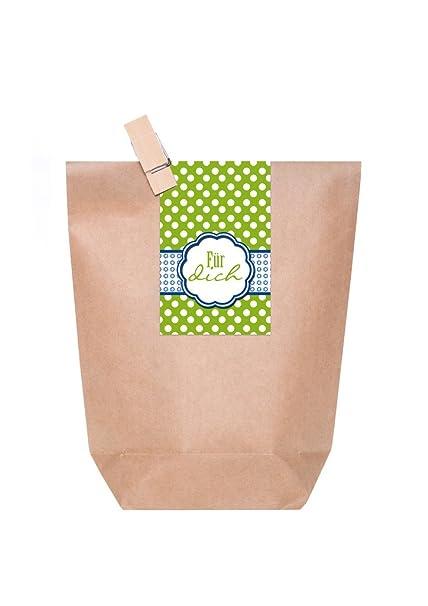 10 bolsas de regalo, marrón pequeños obsequios o de Give Away del paquete para regalos de ...