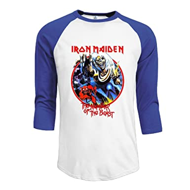 469a4a6617 Amazon.com  Mens Iron Maiden Vintage Killers 30 1 Heather Jerseys Baseball  Raglan T Shirts  Clothing