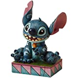 Disney Traditions 4016555 Figurine Ohana Signifie Famille Stitch Résine 9,5 cm