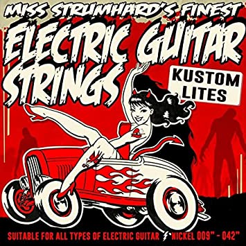 Kustom Lite níquel Cuerdas para guitarra eléctrica de Oypla señorita Strumhard: Amazon.es: Hogar