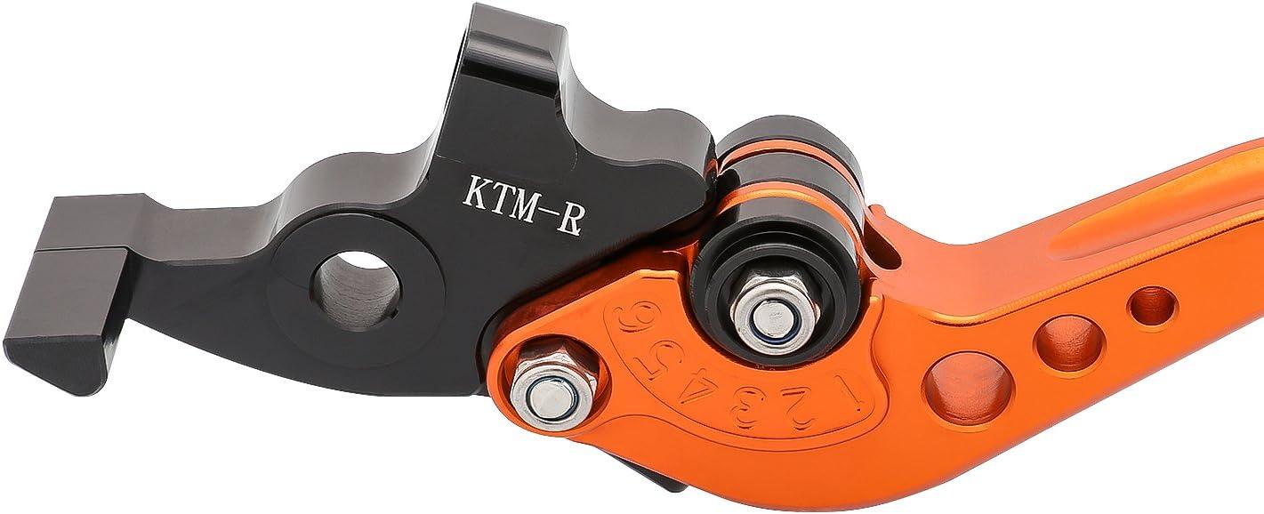 KTM-R//KTM-L SPL097 ORANGE Motocicletta Breve Leve Freno e Frizione in CNC Alluminio Regolabile per KTM 125 Duke 200 Duke 390 Duke 2012-2015 un paio