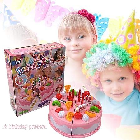 Womdee Juego de Tarta de cumpleaños para Mujer, 45 Piezas de ...