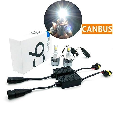 heinmo Canbus LED 36 W 3800LM COB coche Kit de faros delanteros de bombilla LED luz
