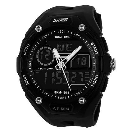Reloj digital impermeable para hombre Reloj deportivo para hombre, alpinismo Reloj electrónico para hombre