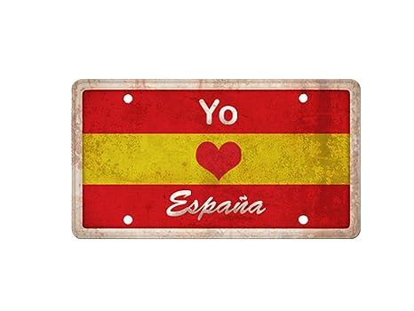 Matricula Decorativa 30,00 cm x 15,00 cm Yo Amo España | Decoración