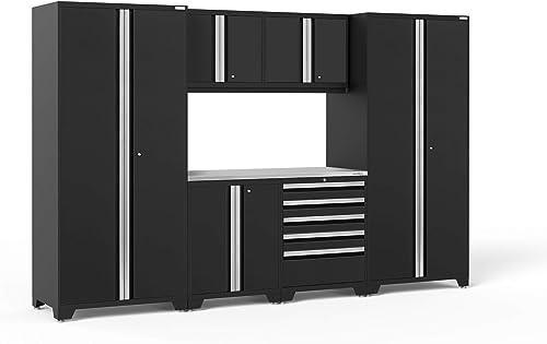 NewAge Products Pro Series Black 7 Piece Set, Garage Cabinets, 64062