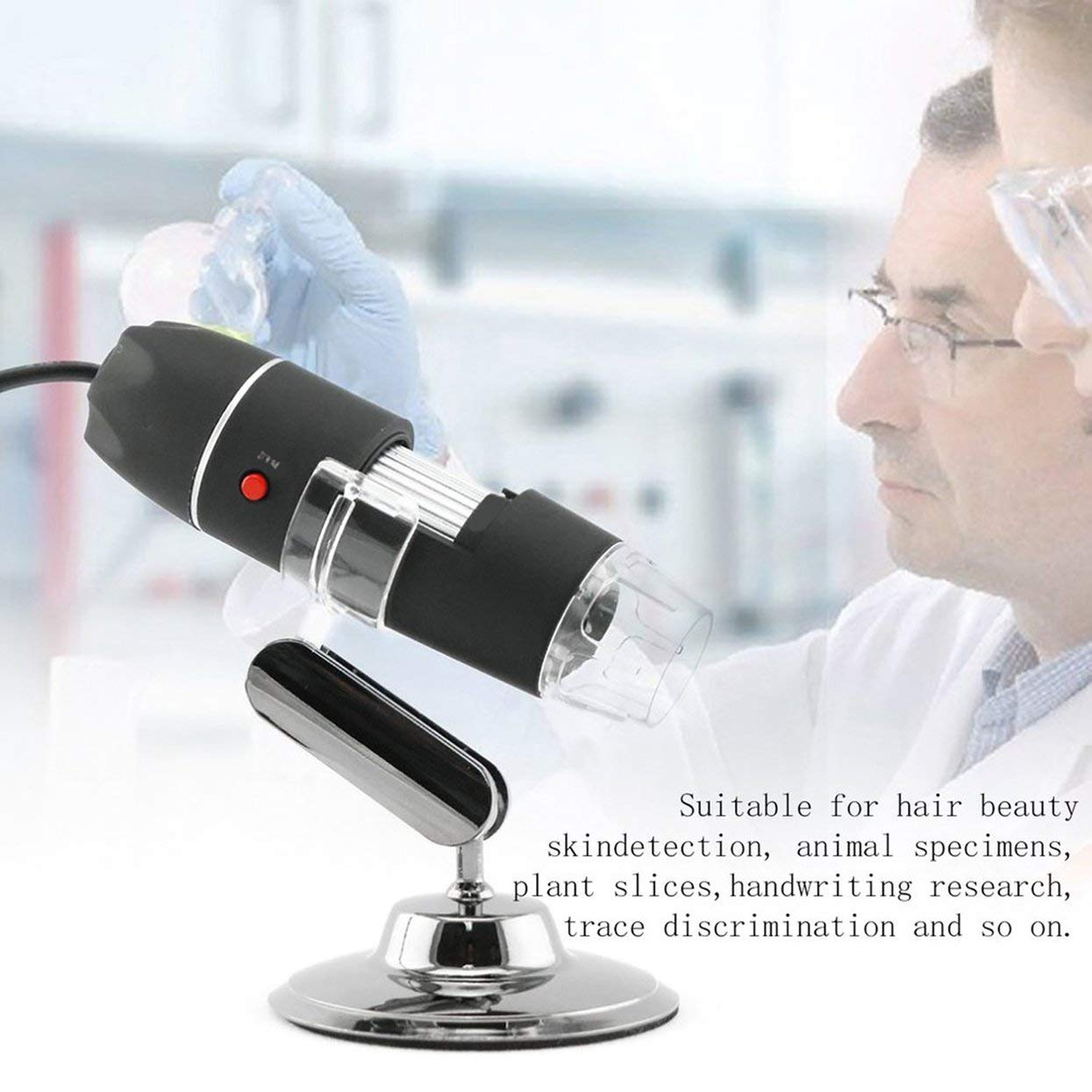 WiFi Digital Microscope 8 LED Two in one USB Endoscope Camera Microscopio 800X Stereo Electronic Magnifier Plug and Play