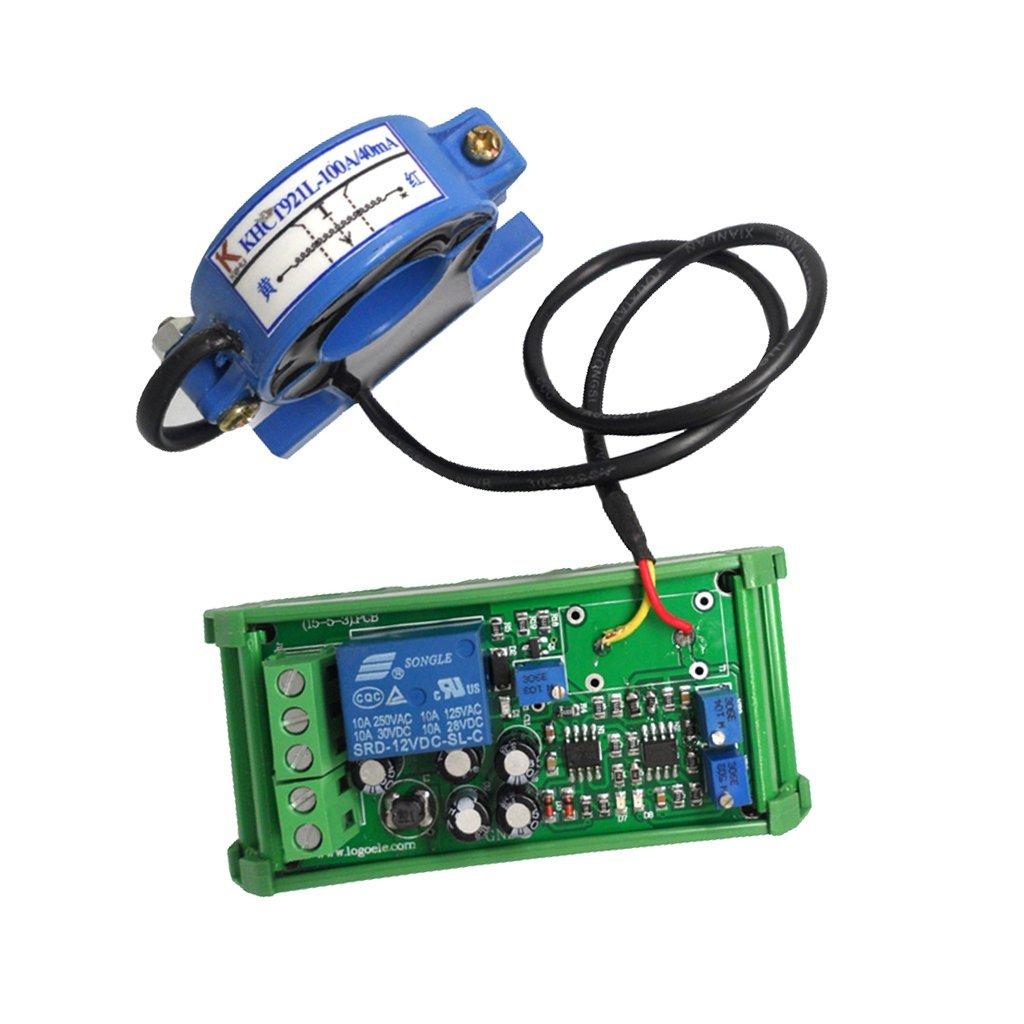 Homyl High Quality AC Current Sensor Detection Module 0-100A Range Adjustable Liner Switch Output Over-current Protection