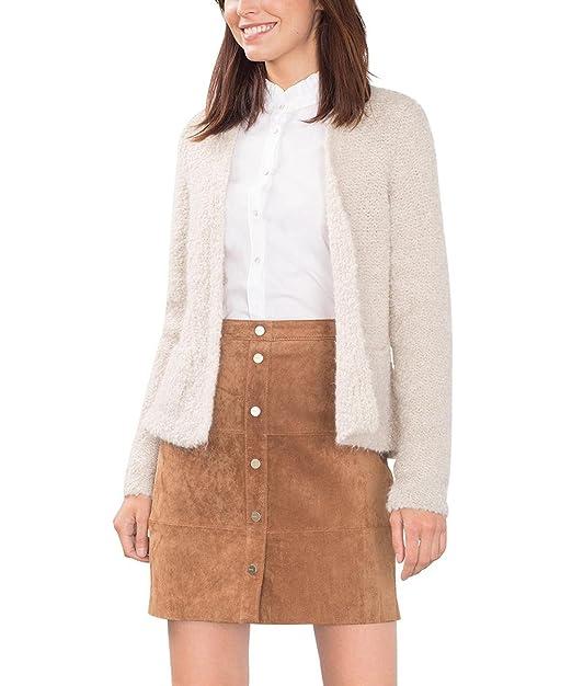 ESPRIT Collection 106EO1I015 - Regular Fit, Chaqueta Punto Mujer, Gris (Pastel Grey)