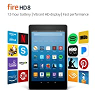 "Fire HD 8 Tablet with Alexa, 8"" HD Display, 16 GB, Black - with Special Offers (Previous Generation – 7th)"