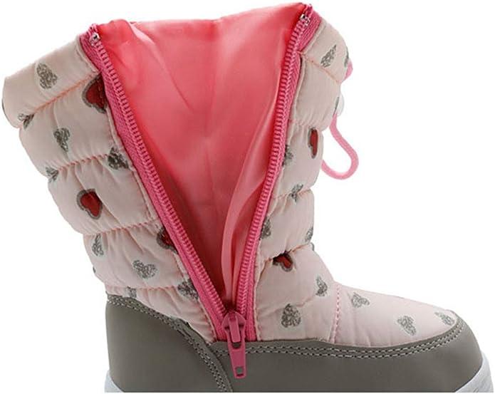 LLBubble Boys Girls Outdoor Waterproof Winter Snow Boots Woolen Lining