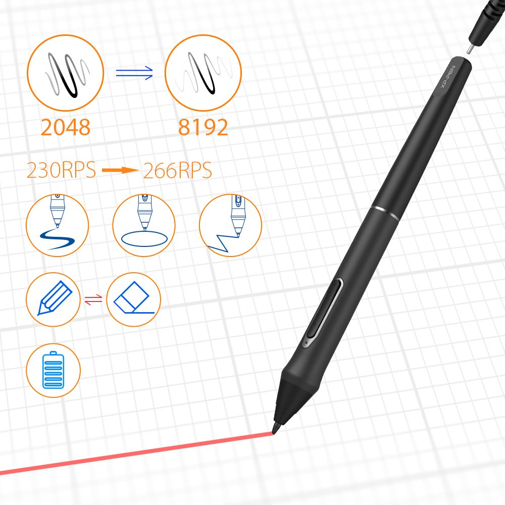 XP-PEN Artist22E Pro 21 5 Inch HD Pen Display Monitor Graphics Drawing  Tablet with 16 Shortcuts and Adjustable Stand(8192 levels pressure)