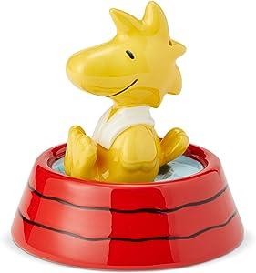 Enesco Peanuts Ceramics Woodstock in Dog Dish Salt and Pepper Shakers, 3.875 Inch, Multicolor