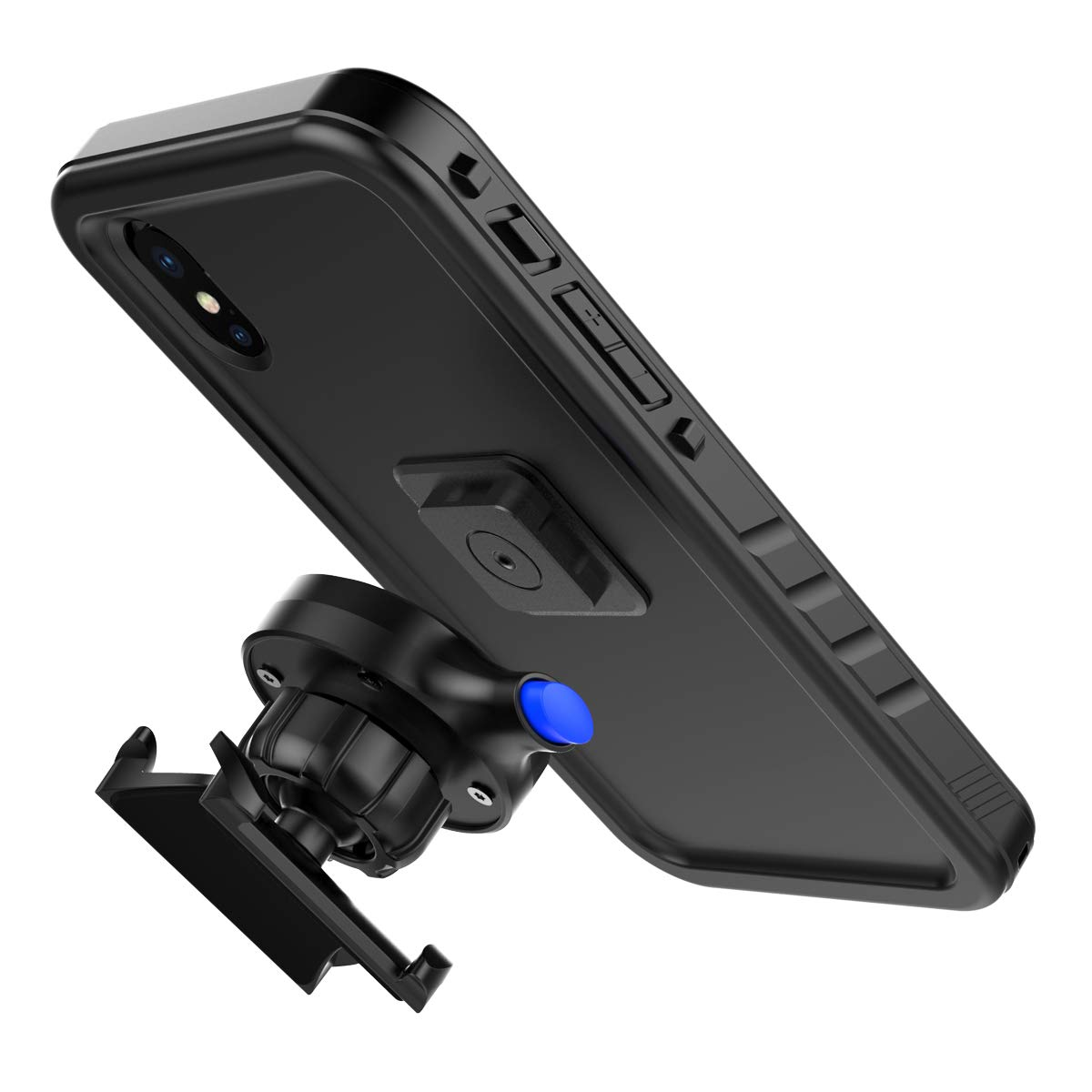 ... Water Resistant Full Body Rugged Protective Cover with Rotating Bicycle Handlebar Mount Phone Holder for iPhone XS Max 2018 6.5