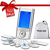 TENKER EMS TENS Unit Rechargeable Muscle Stimulator Pain Reliever for Muscle Stiffness, Soreness, Aches and Pains, Perfect for Relaxation