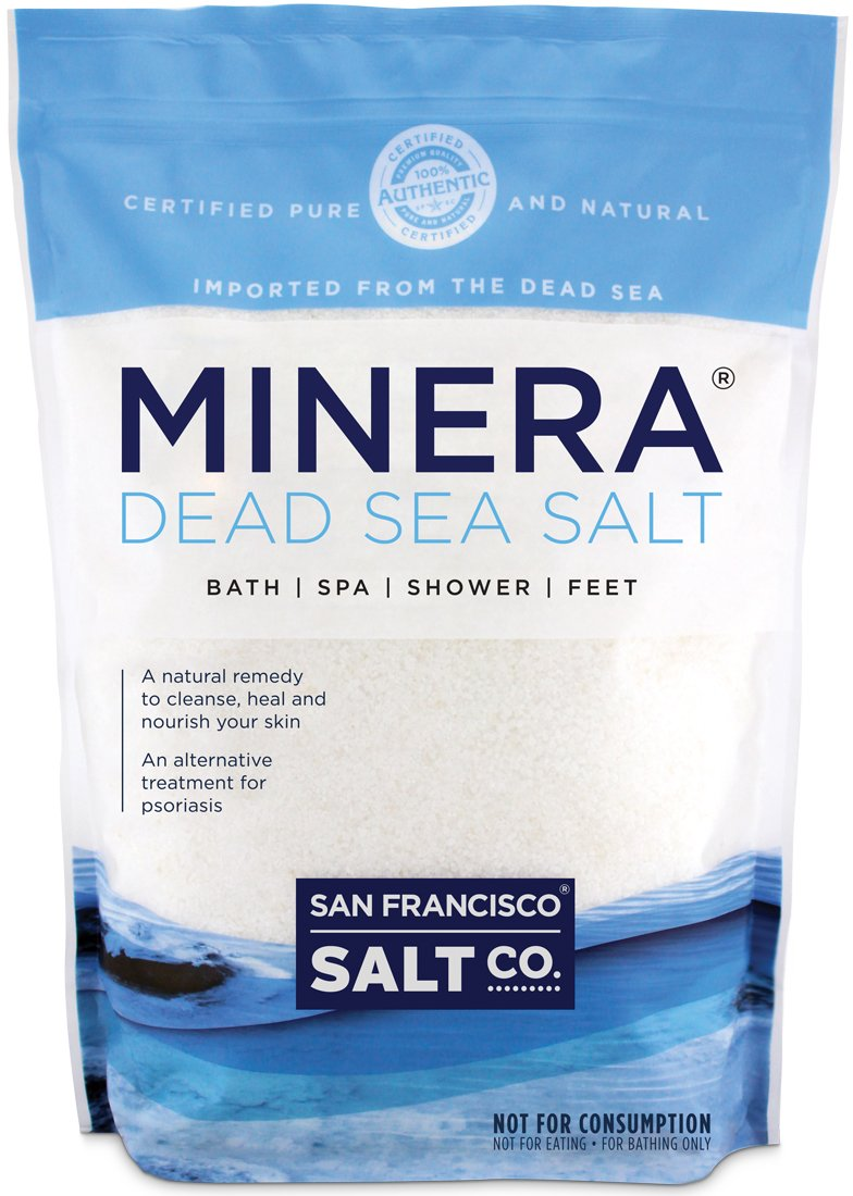 Minera Dead Sea Salt Bulk 5lb Bag Fine Grain, 100% Certified Pure and Natural