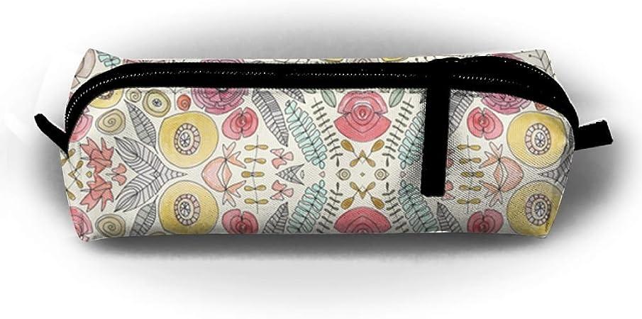 FRTSFLEE - Estuche para lápices de colores de flor de plumas, portátil, elegante, multifuncional, suministros escolares, para bolígrafos de acuarela y marcadores, regalo perfecto para estudiantes y artistas: Amazon.es: Hogar