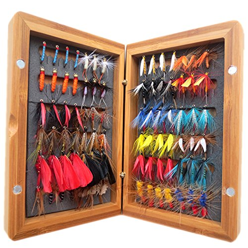 flyafish-vintage-7-dozen-fly-lure-with-a-bamboo-box-bass-bait-lure-stream-trout-fishing