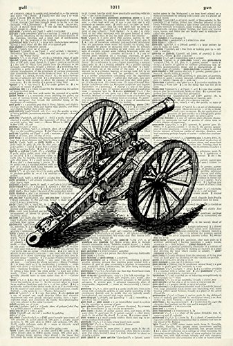 Vintage Canon Art Print - Vintage Art Print - Mixed Media Art Print - Canon Illustration - Picture - Vintage Dictionary Art Print - Wall Art - Book Print 999D (Canon Media)