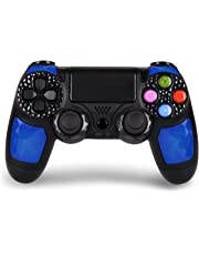 HQD PS4 Mando Inalámbrico Wireless para PlayStation 4 de Alta Calidad Diamond con DoubleShock 4 y Batería de lítio 1.000 mAh. Compatible con Play4/Slim/Pro, PC Windows y PS TV/SMART TV Color Azul