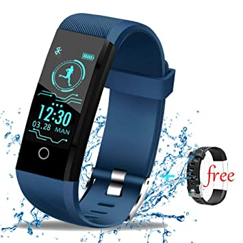 LIGE Montre Connectée Fitness Trackers, Tracker Activité Moniteur de Fréquence Cardiaque Montre Enfants Etanche Bracelet