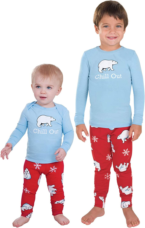 12 Months Carters Baby Boys 4 Piece Sleepwear Polar Bear Ski