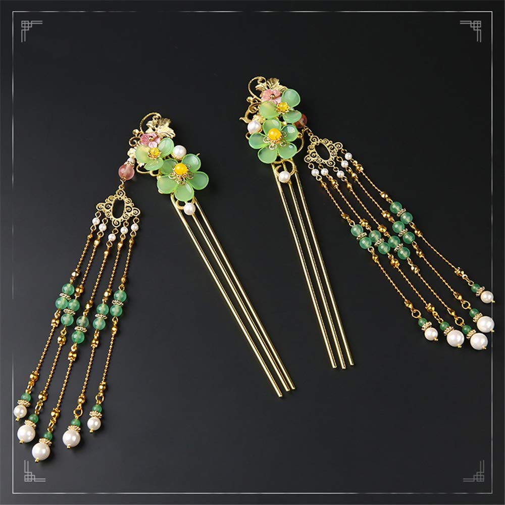 Hairpin Tassels Hair Claw Step shake for Hanfu Kimono Cheongsam Woman Gift Sa
