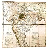 iCanvasART Map of India, 1803 Canvas Print, 37'' x 0.75'' x 37''