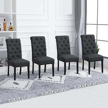 sillas de comedor modernas negras