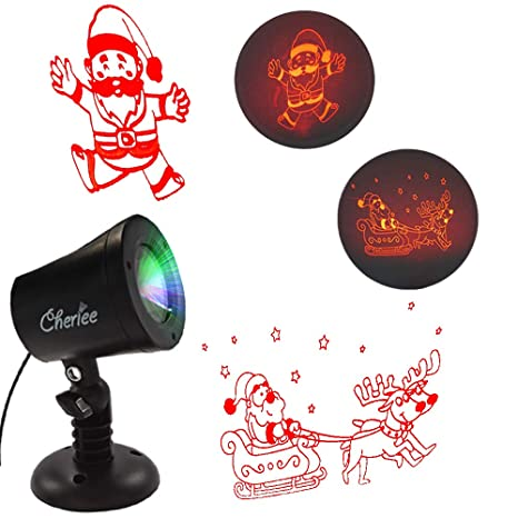 Cartoon Christmas Lights.Amazon Com Cartoon Laser Christmas Lights Santa Claus And