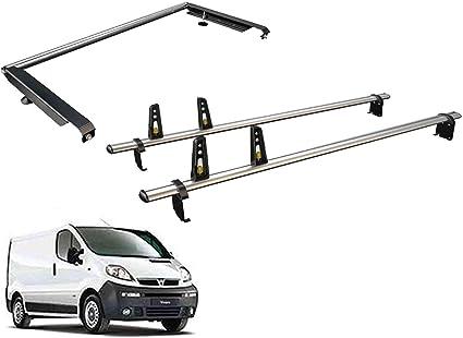 Van Guard Ulti Bar - Juego de 2 Barras de Techo y Rodillo de Escalera Trasera para Opel Vivaro (01-14): Amazon.es: Coche y moto