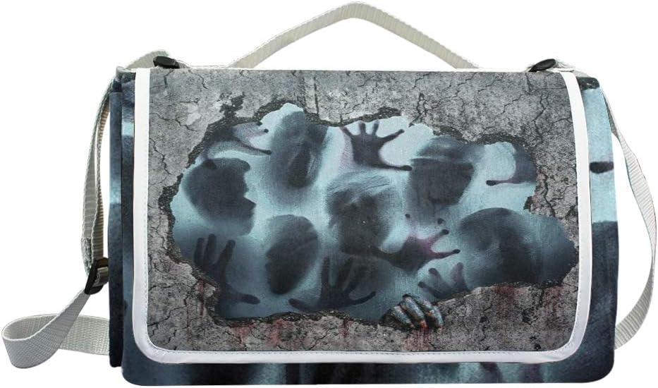 XINGAKA Coperta da Picnic Tappetino Campeggio,Hoop Dog Hiphop Cappello Wildlife Vintage Rap cap Rapper Tribe Hoop,Giardino Spiaggia Impermeabile Anti Sabbia 10