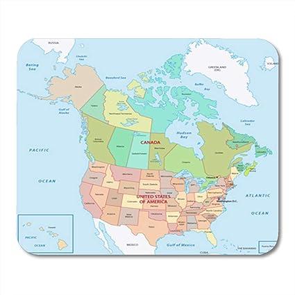 Canada North America Map on