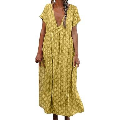 low priced 32889 1aeac Sommerkleider Damen Langes Kleider Große Größen,Frauen ...